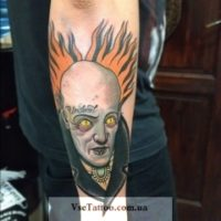 Необычная тату в стиле олд скул