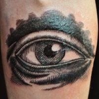 Глаз на руке тату