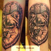 татуировки абстракционизм волк