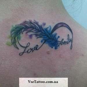 татуировка бесконечность в стиле акварель