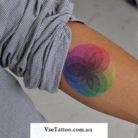 тату цветовой спектр на руке