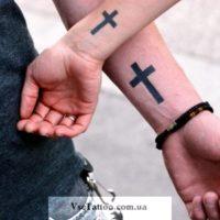 хендпоук тату крест