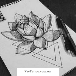 фото татуировки кувшинка