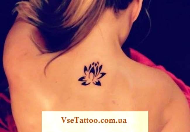 татуировка кувшинка у девушек