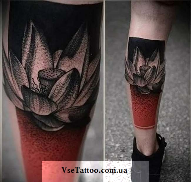 татуировка кувшинка у парней