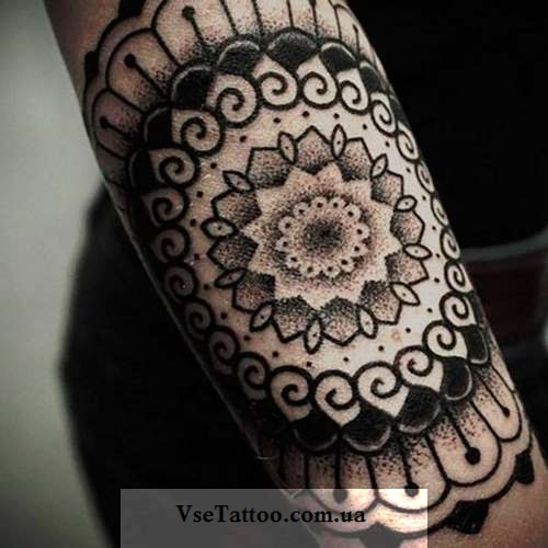 mandala tattoo на руке