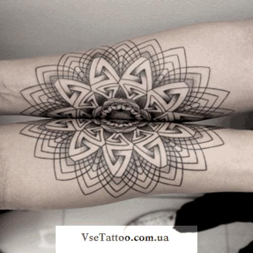 татуировка мандала на руках