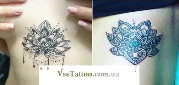 tattoo мандала на груди