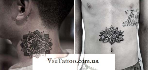 mandala tattoo у парней