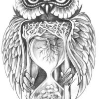 Сова и песочные часы