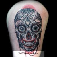татуировка барокко маска