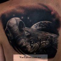 tatuiтатуировки космос черно белые