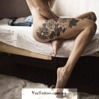 татуировки цветы черно белые