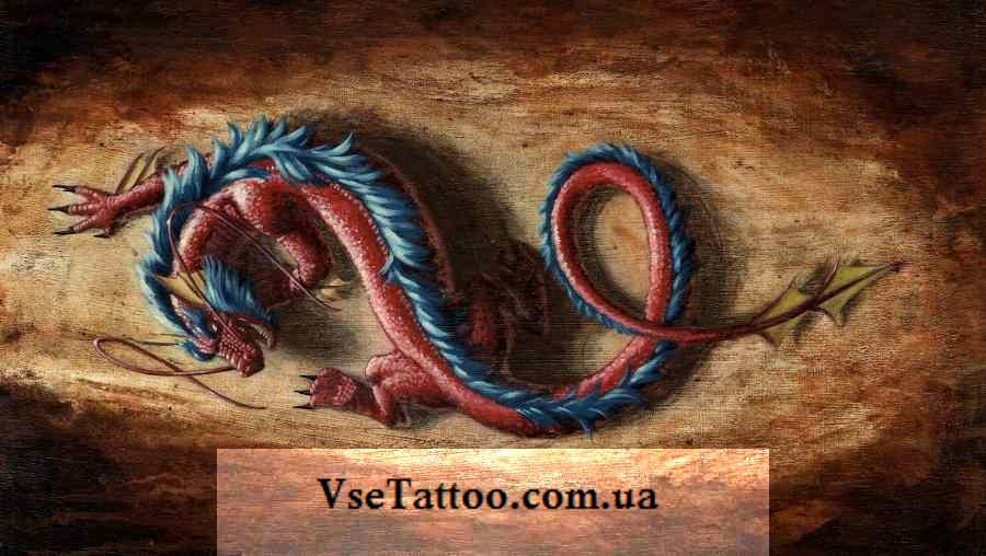 дизайн тату дракона