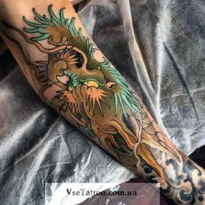 изображение татуировки дракона на руке