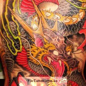 фото тату восточного дракона
