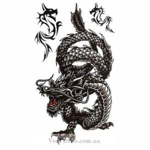 изображение эскиза японского дракона