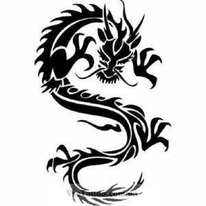 изображение эскиза китайского дракона