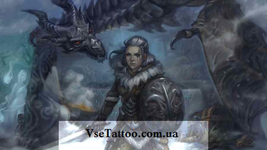 изображение кельтского дракона