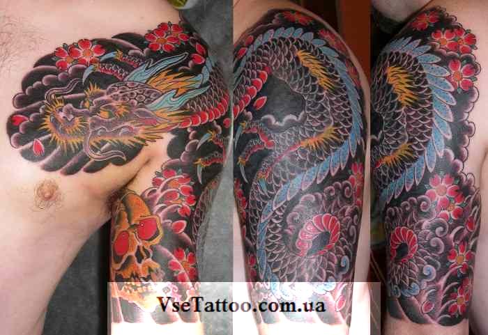 фото татуировки китайского дракона