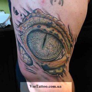 фото татуировки глаз дракона на предплечье