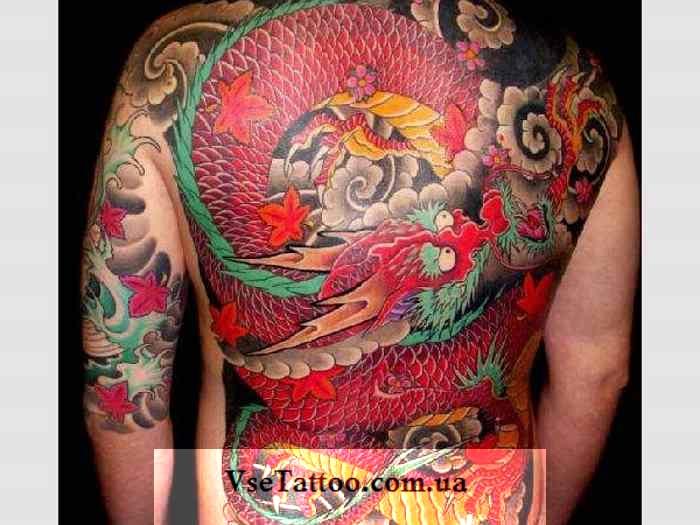 фото тату японский дракон