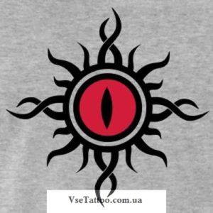 изображение эскиза красного глаза дракона