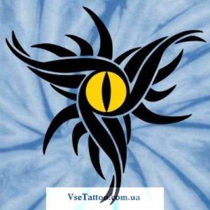 изображение эскиза желтого глаза дракона