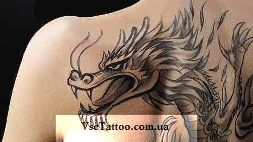 тату греческого дракона фото