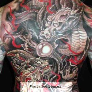 фото татуировки японский дракон