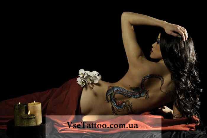 татуировка дракона у девушки фото