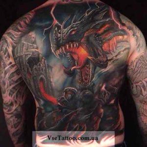 фото тату кельтский дракон