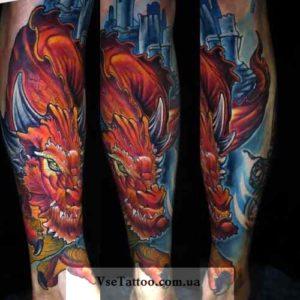 фото татуировки дракона на руке