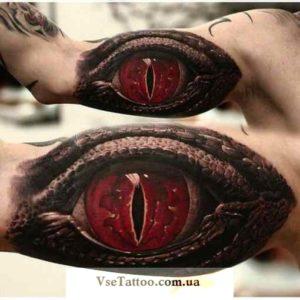 фото тату глаз дракона на руке у парня