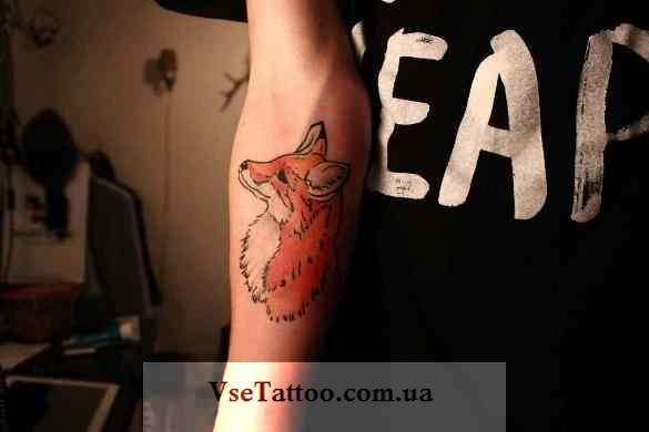 фото татуировка лиса для девушек