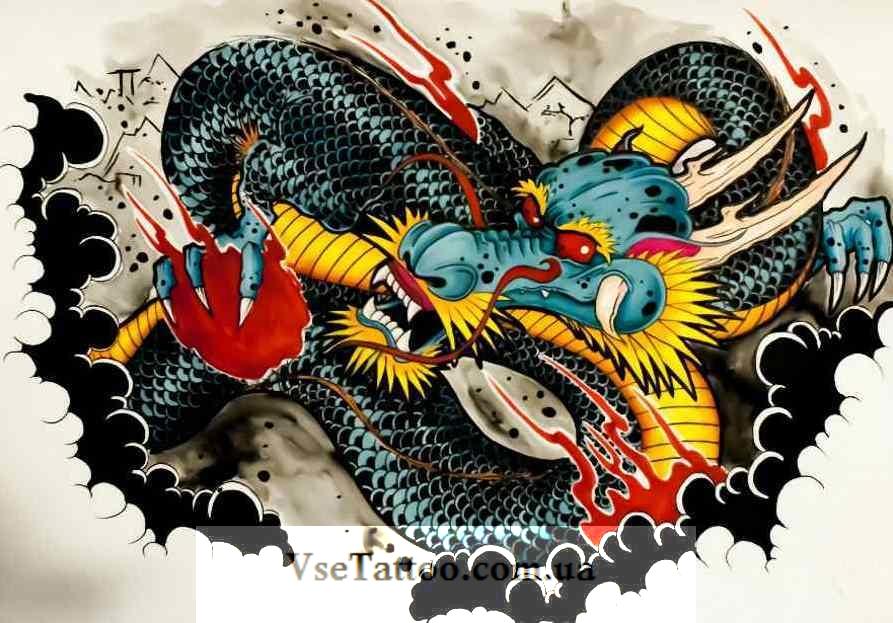 изображение японского дракона