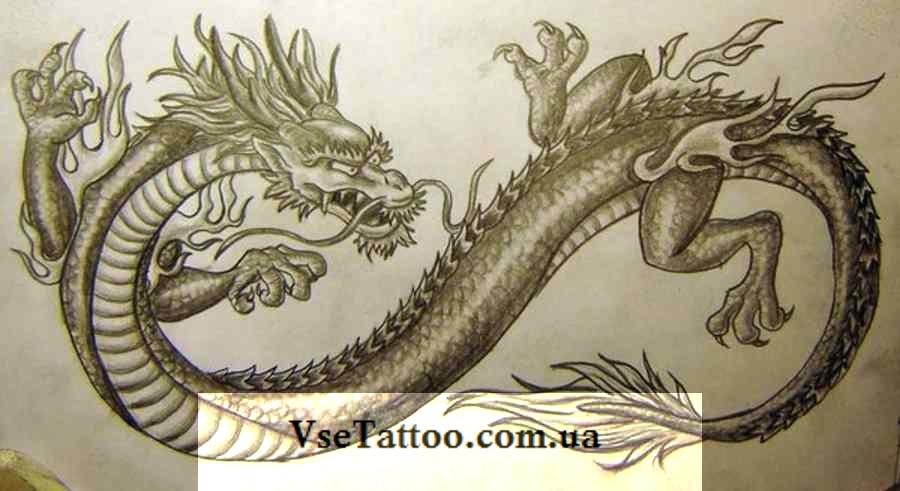 изображение китайского дракона