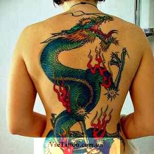 фото тату китайский дракон