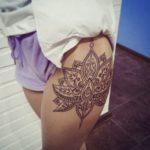 фото tattoo мандалы лотоса - 3