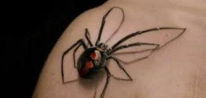 тату с пауком на плече