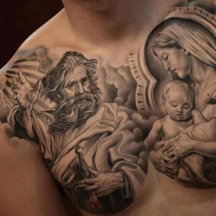 фото татуировки дева мария