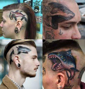 фото татуировки акулы на голове