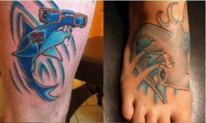 фото тату акула-молот и дополнительные элементы 1