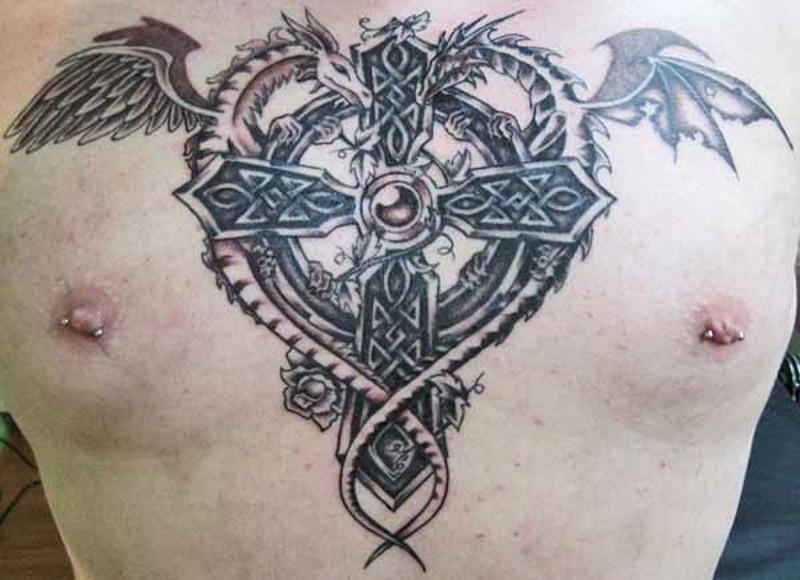 кельтский крест татуировка фото