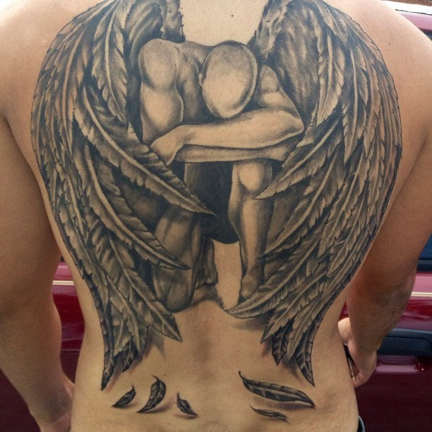 фото тату падший ангел