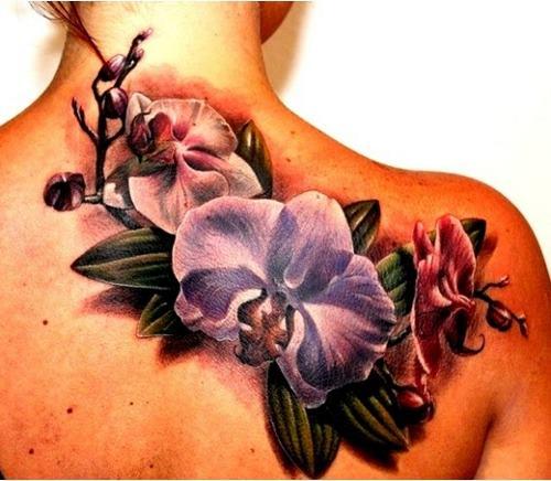 татуировка орхидея фото