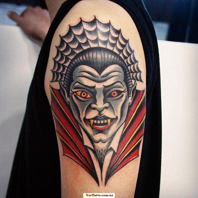фото татуировки с изображением вампира