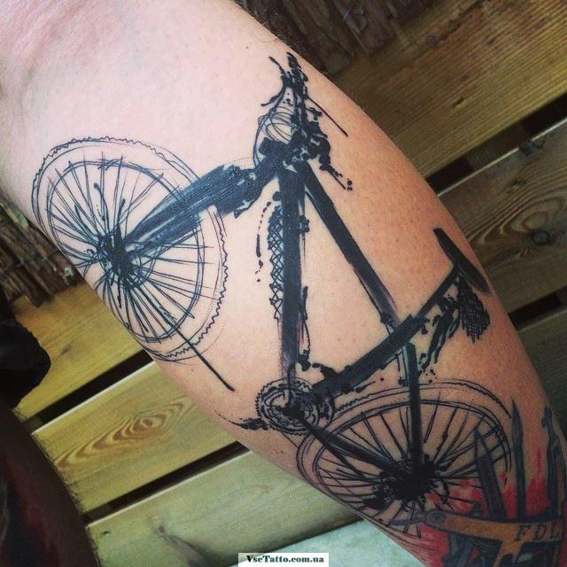 фото татуировки велосипед